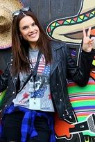 Lauren Moshi Kinzington Born Wild Vintage Crop Muscle Tank in Heather Grey