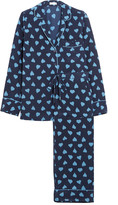 Equipment Avery printed washed-silk pajama set