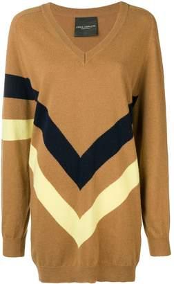 Cavallini Erika boxy striped print sweater