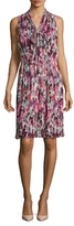 St. John Brigitte Floral Print Georgette Dress