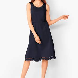 Talbots Ladder-Trim Ponte Fit & Flare Dress