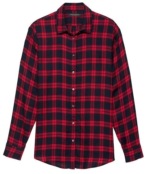 a60d184b05 Women Fitted Red Flannel Shirt - ShopStyle