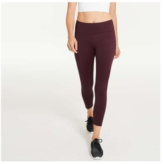 Joe Fresh Women's Fleece Active Legging, Burgundy (Size M)