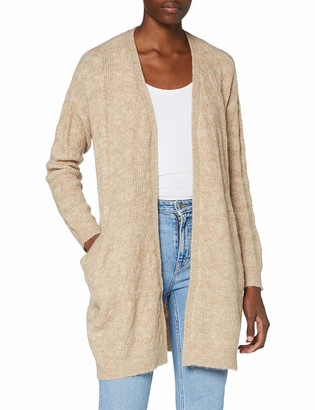 Pieces Women's PCBECKY LS Cable Knit Cardigan BC