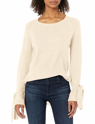Kensie Women's Warm Touch Bow Sleeve Sweater