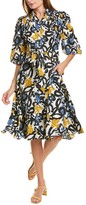 Thumbnail for your product : Gracia Elbow-Sleeve Shirtdress