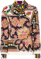 Etro pussy-bow printed blouse
