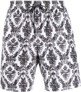 Dolce & Gabbana Printed Short Swimming Shorts