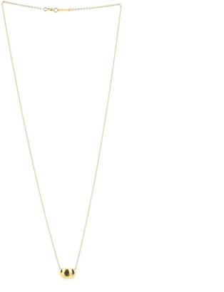 Tiffany & Co. Elsa Peretti Bean Pendant Necklace 18K Yellow Gold
