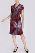 Josie Natori Deco Cowl Dress
