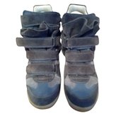 Isabel Marant Grey Leather Trainers
