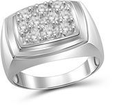 FINE JEWELRY Hallmark Bridal Mens 1 CT. T.W. White Diamond 10K Gold Band