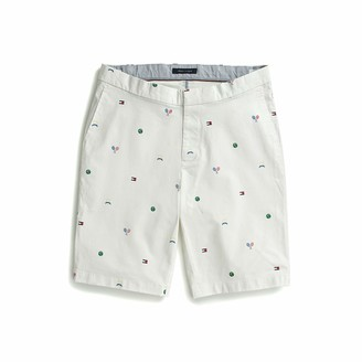 Tommy Hilfiger Men's Adaptive Seated Fit Tennis Shorts with Elastic Waist Velcro Closure