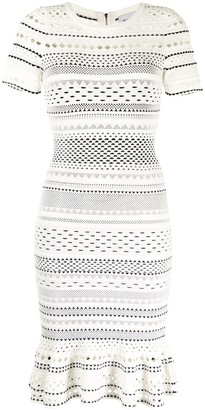 Milly Perforated Fitted Dress