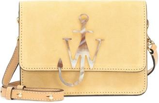 J.W.Anderson Logo Small suede shoulder bag