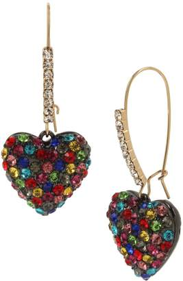 Betsey Johnson Goldtone Crystal Drop Earrings