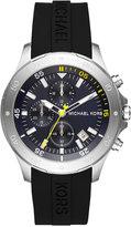 Michael Kors Men's Chronograph Walsh Black Silicone Strap Watch 44mm MK8567