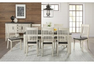 Gracie Oaks Ridgley Solid Wood Slat Back Side Chair (Set of 2 Color: Distressed Cocoa/Chalk