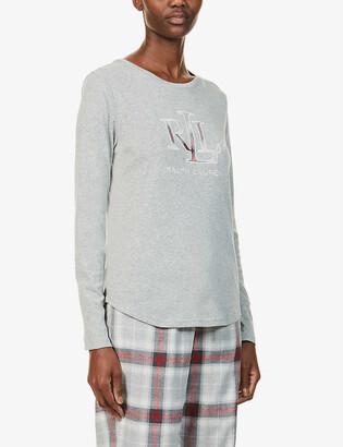 Lauren Ralph Lauren Branded cotton-jersey pyjama set