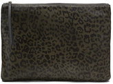 Banana Republic Printed Haircalf Leather Large Zip Pouch