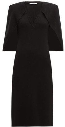 Givenchy Cape-back Crepe Midi Dress - Womens - Black