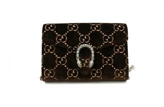 Gucci Dionysus Brown Velvet Handbags