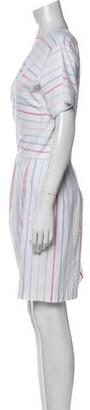 Lake Studio Striped Mini Dress White