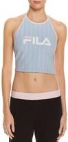 Fila Luann Logo Stripe Halter Crop Top