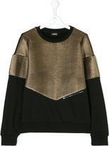 Diesel sweatshirt with metallic front