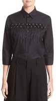 Noir Kei Ninomiya Women's Flower Motif Broadcloth Blouse