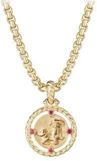 David Yurman 18K Gold& Ruby Lunar New Year Pendant