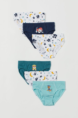 H&M 6-pack Printed Boys' Briefs - Turquoise