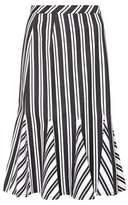 Altuzarra Crocus striped wool-blend skirt