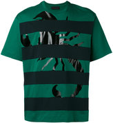 Diesel Black Gold striped scorpion print T-shirt