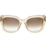 Saint Laurent Beige Plastic Sunglasses
