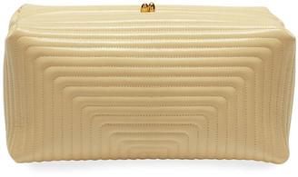 Jil Sander Goji Soft Quilted Leather Clutch Bag