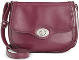 Giani Bernini Brogue Large Leather Saddle Bag, Only at Macy's
