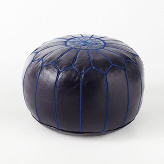 west elm Moroccan Leather Pouf - Small