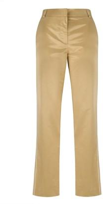 Klaudia Karamandi Ilina Slim-Fit Golden Trousers