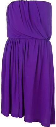 Yves Saint Laurent Pre-Owned Strapless Asymmetric Dress