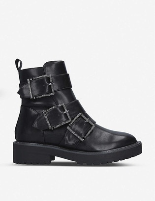 Kg Kurt Geiger Trixie diamante-embellished biker boots