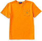 Ralph Lauren Big Boys 8-20 Patch Pocket V-Neck Jersey Tee
