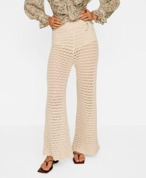 MANGO Openwork Cotton Pants