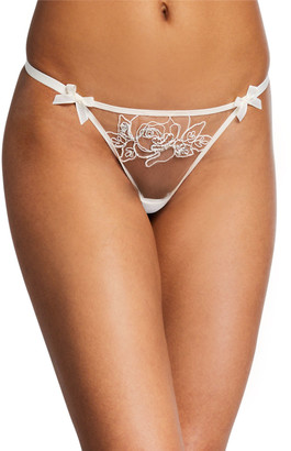 Agent Provocateur Lindie Floral-Tulle Thong