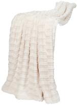 Boon Throw & Blanket Saga Double Sided Faux Fur Throw, Ivory
