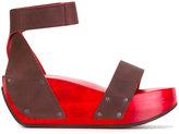 Trippen Gleam platform sandals - women - Leather/wood/rubber - 37