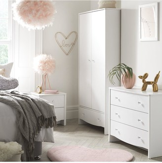 Alexis 3 Piece Kids Bedroom Package - Wardrobe, Chest Of Drawers and Bedside Table