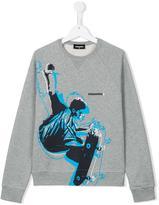 DSQUARED2 skater print sweatshirt - kids - Cotton - 14 yrs