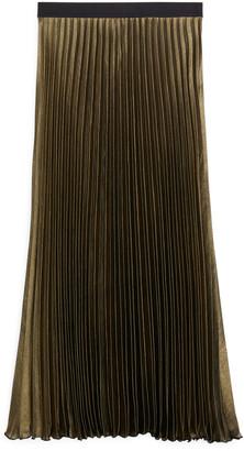 Arket Metallic Midi Skirt