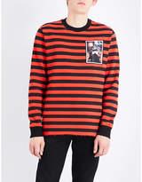 Givenchy Striped Cotton-jersey Sweatshirt